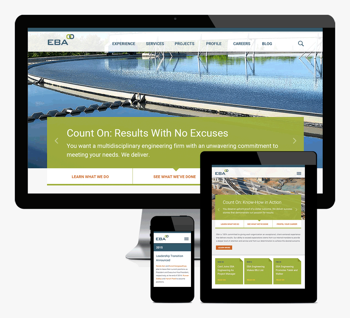 EBA Engineering Website Redesign