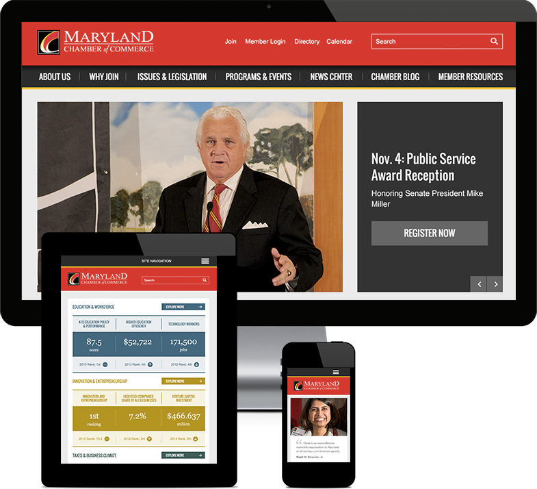Maryland Chamber of Commerce Responsive Design