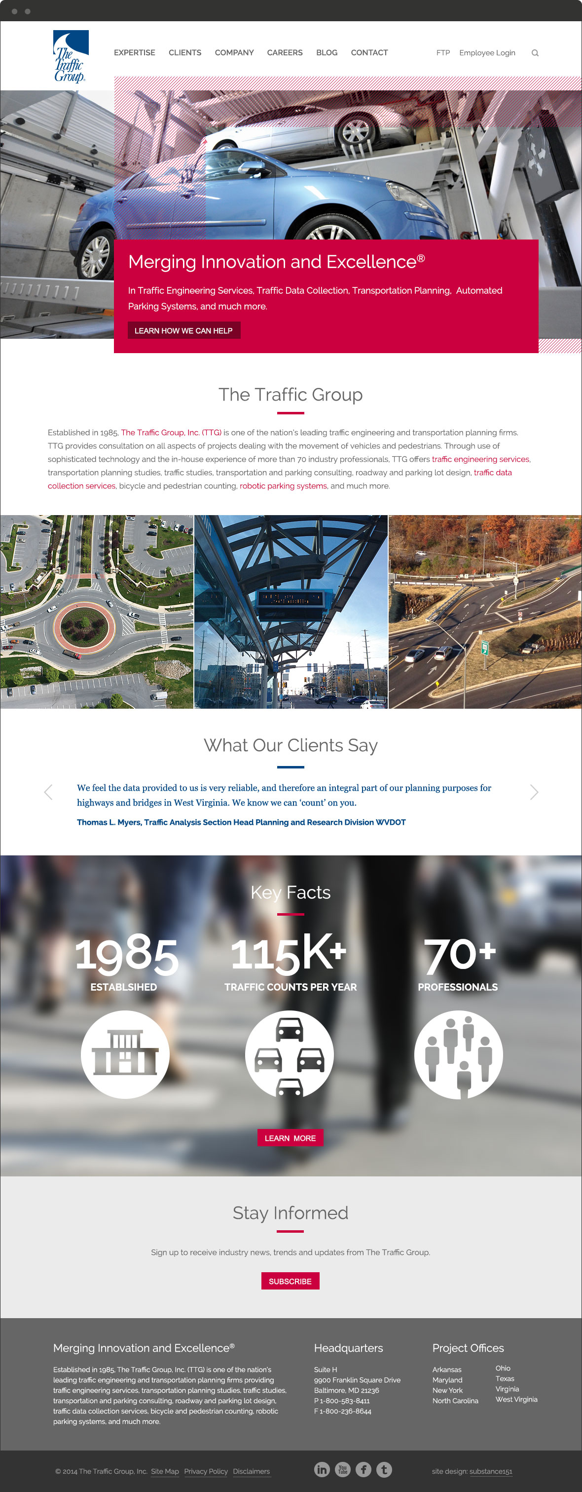 The Traffic Group Home Page
