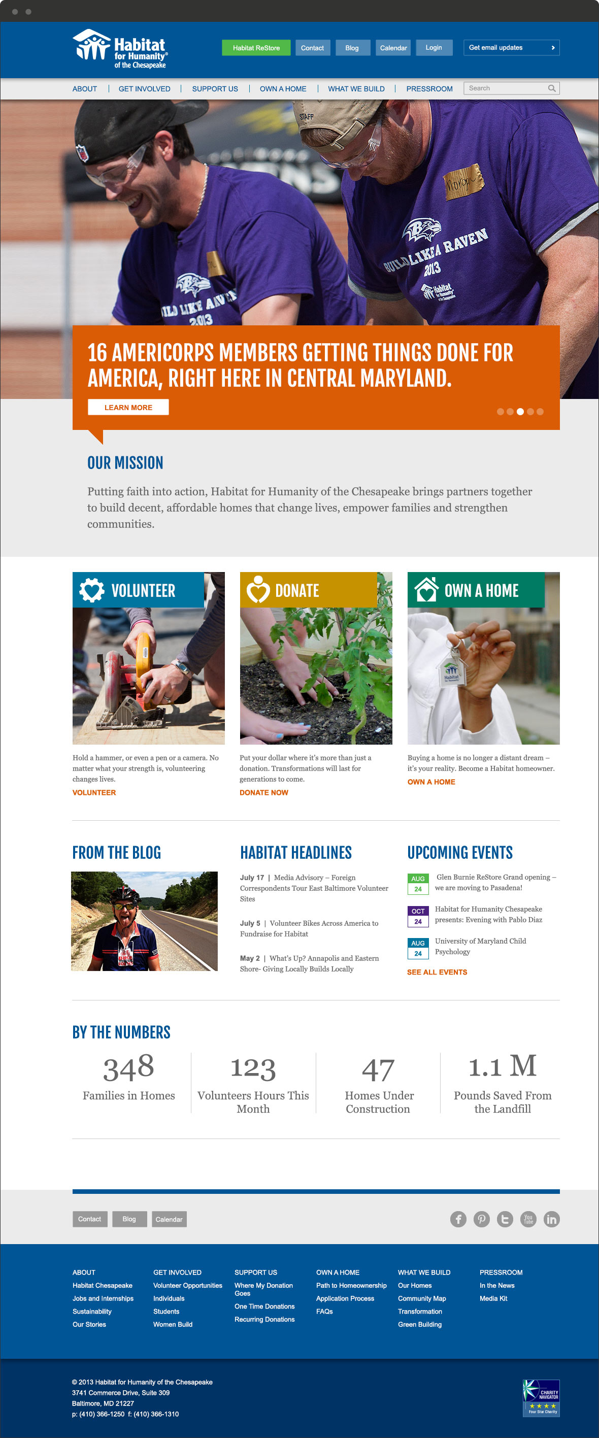 habitat chesapeake website redesign