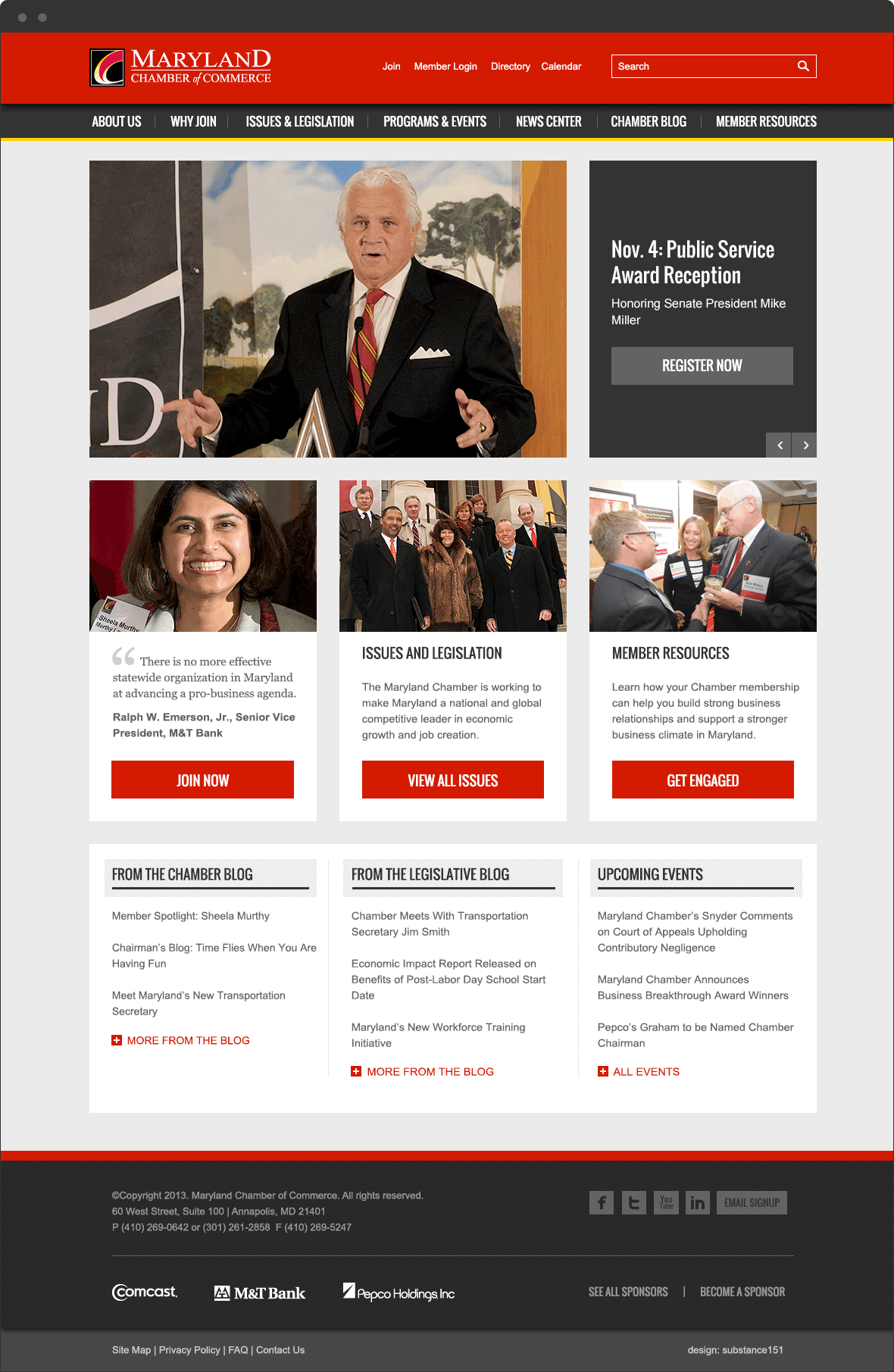 maryland chamber website redesign