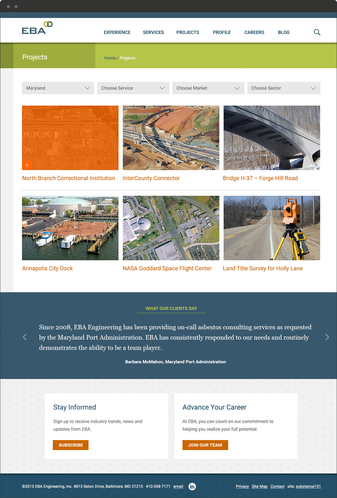 EBA Engineering Projects Page