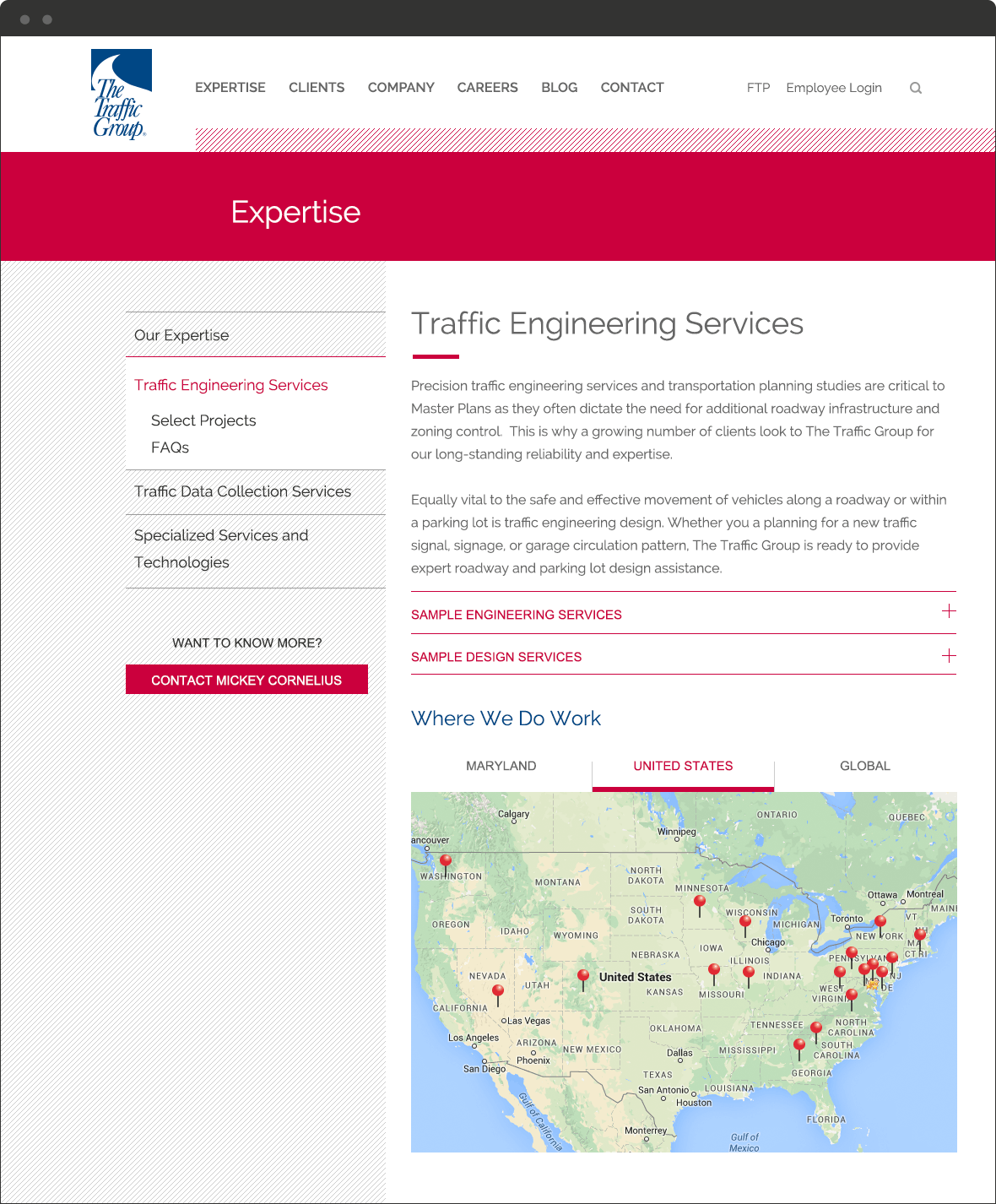 The Traffic Group Website