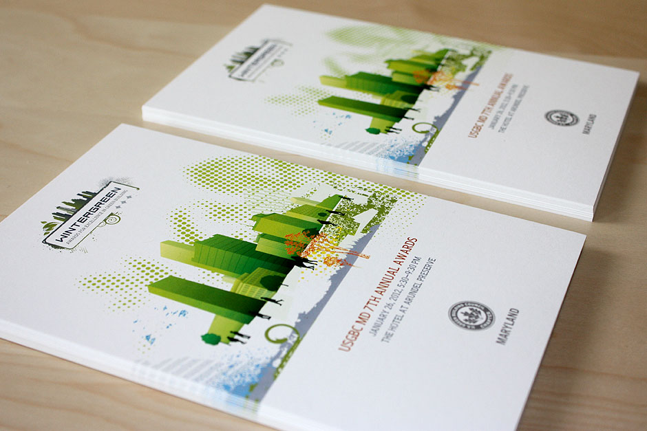 USGBC Maryland Wintergreen Awards Branding