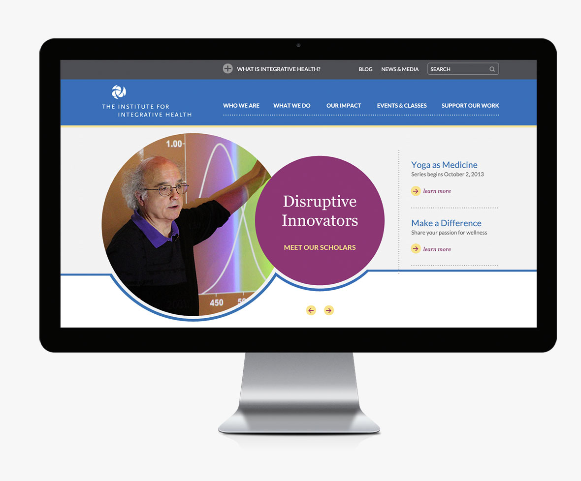 The Institute for Integrative Health Website Redesign