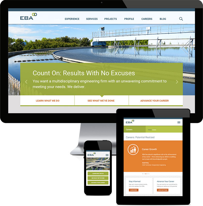 EBA website redesign