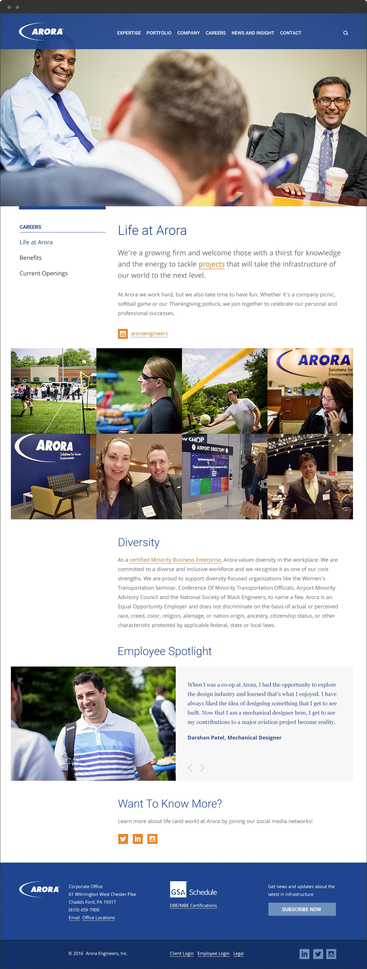 arora engineers website