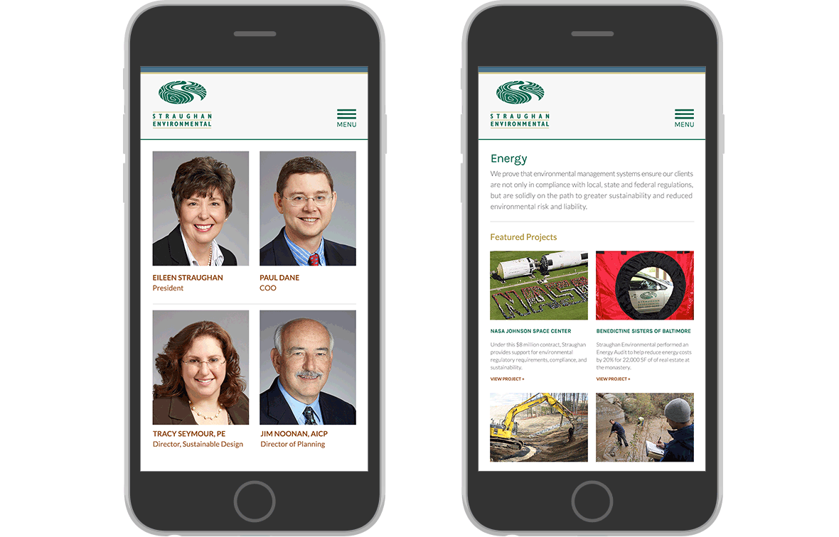 Straughan Environmental website redesign