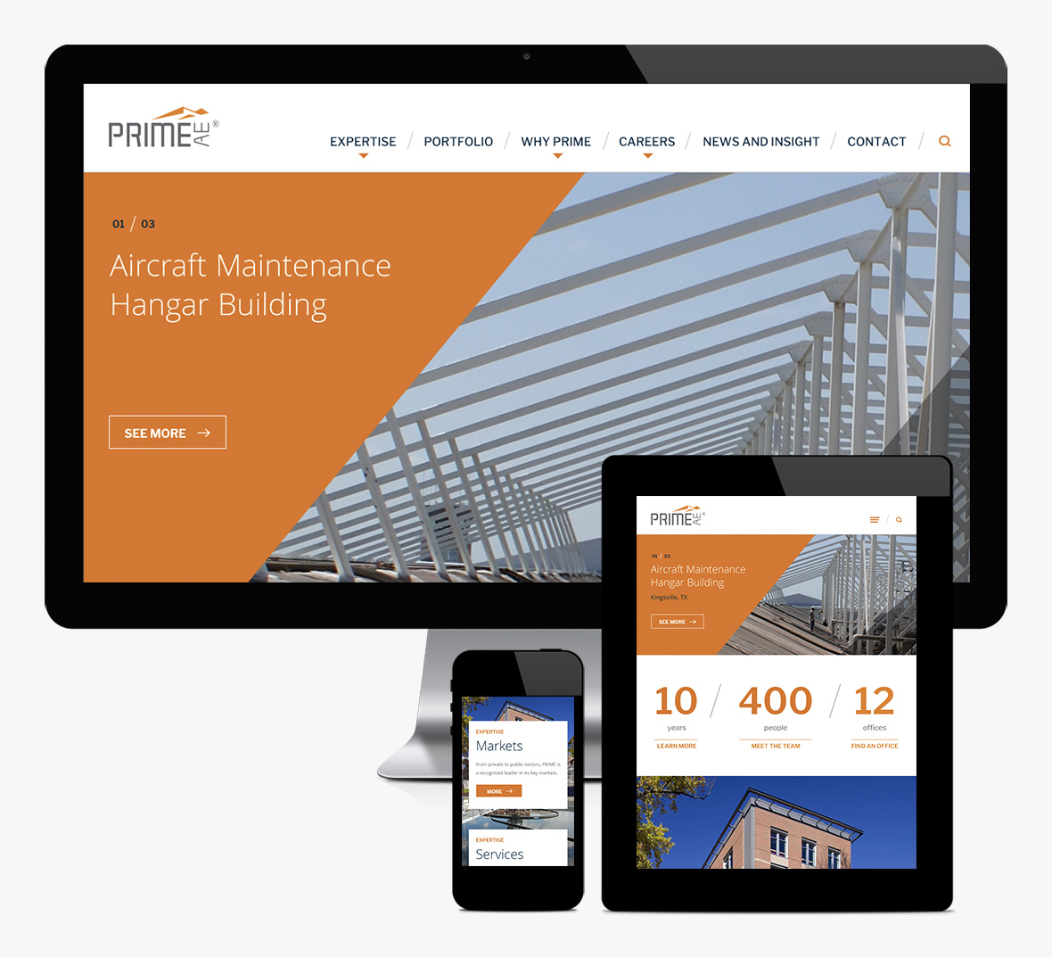PRIME AE Group Website Redesign