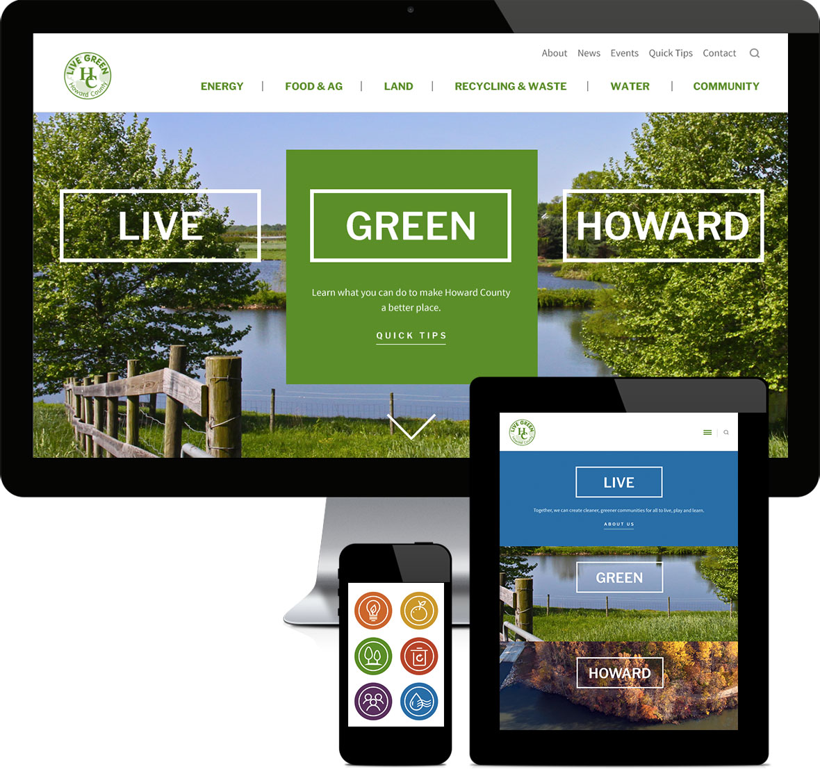 Live Green Howard responsive design