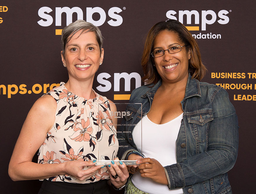 SMPS Outstanding Award for SMPS Maryland Website Redesign